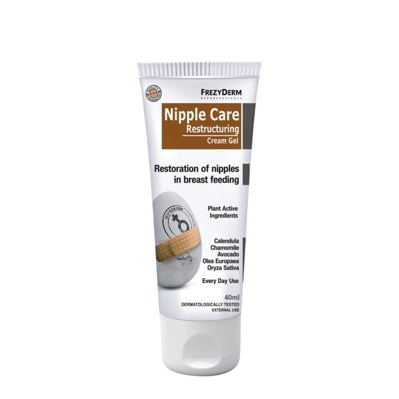 Frezyderm Nipple Care Restructuring Cream Gel Αναπλαστική Κρέμα που αποκαθιστά της θηλές από τις επιπτώσεις του θηλασμού, 40ml