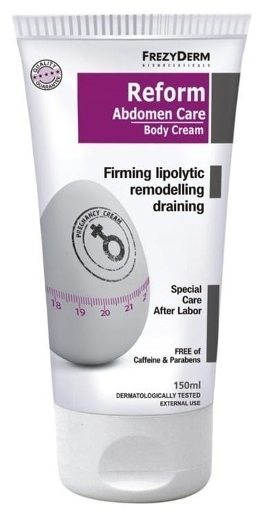 Frezyderm Reform Abdomen Care Body Cream ?Συσφικτική Κρέμα για τη φροντίδα του δέρματος μετά τον τοκετό ή κατά τη διάρκεια της δίαιτας, 150ml