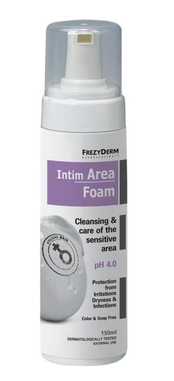 Frezyderm Intim Area Foam pH4 Απαλός Αφρός για τον Καθημερινό Καθαρισμό της Ευαίσθητης Περιοχής κατά την Αναπαραγωγική Ηλικία, 150ml