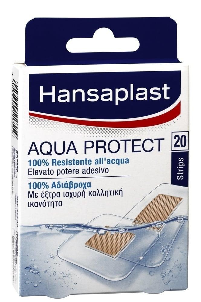 Hansaplast Aqua Protect, Επιθέματα 100% αδιάβροχα & διάφανα με έξτρα ισχυρή κολλητική ικανότητα, 20 τμχ