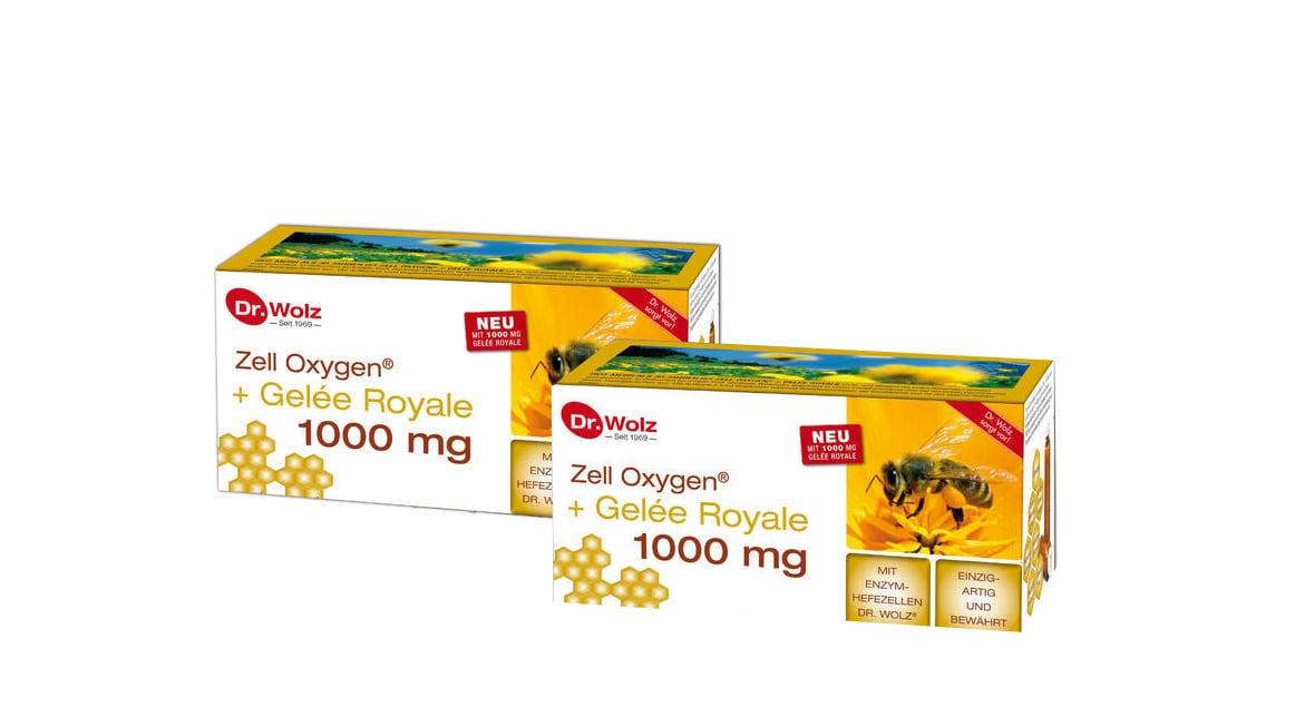 2 x Power Health Zell Oxygen + Gelee Royale 1000mg Συμπλήρωμα με Βασιλικό Πολτό για Έξτρα Τόνωση & Ενέργεια, 2 x (14 x 20ml)