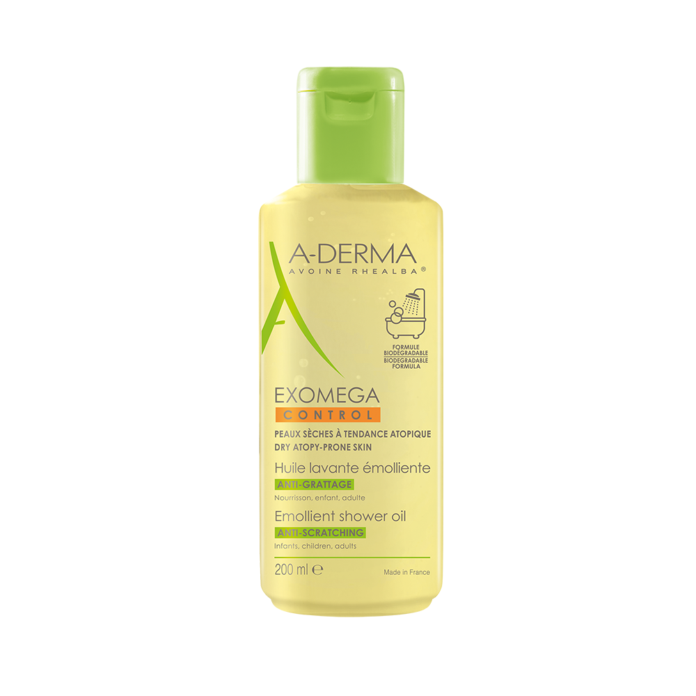 A-derma Exomega Control huile nettoyante Καθαρισμός για Ξηρό Δέρμα ή για Δέρμα με τάση Ατοπίας, 200ml