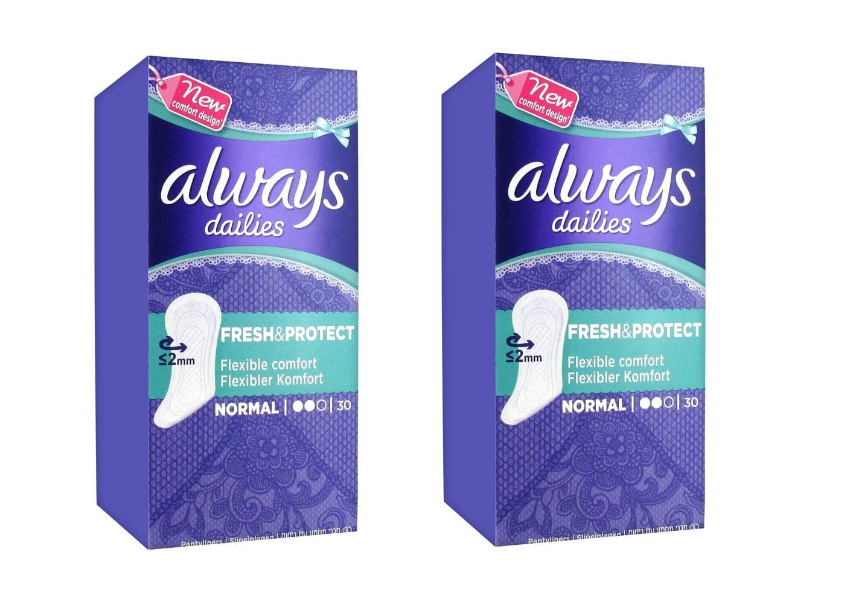 2 x Always Dailies Normal (1+1 ΔΩΡΟ) Σερβιετάκια για Καθημερινή Χρήση, 2 x 30 τεμάχια
