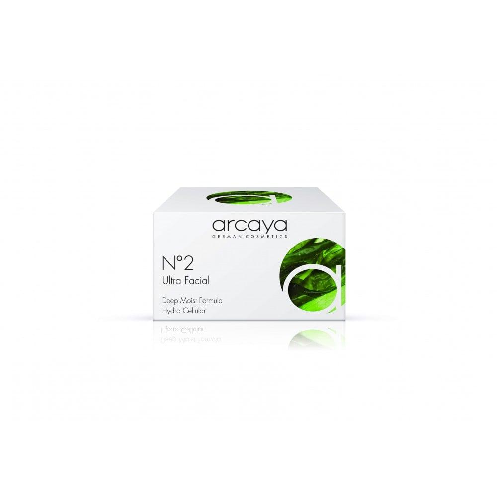 Arcaya No2 Ultra Facial Cream Κρέμα Ενυδάτωσης Προσώπου, 100ml & ΔΩΡΟ 1 Αμπούλα, 2ml