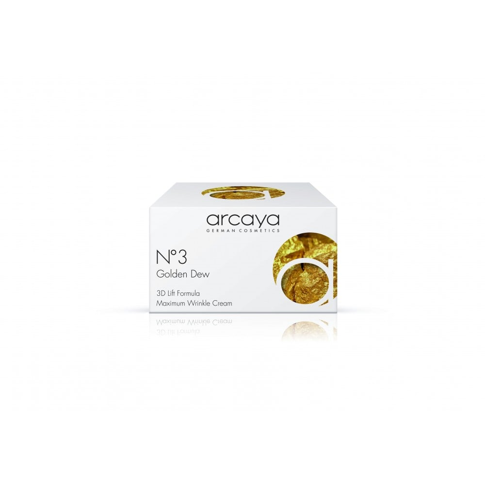 Arcaya No3 Golden Dew Cream Κρέμα Αναδόμησης Προσώπου, 100ml & ΔΩΡΟ 1 Αμπούλα, 2ml