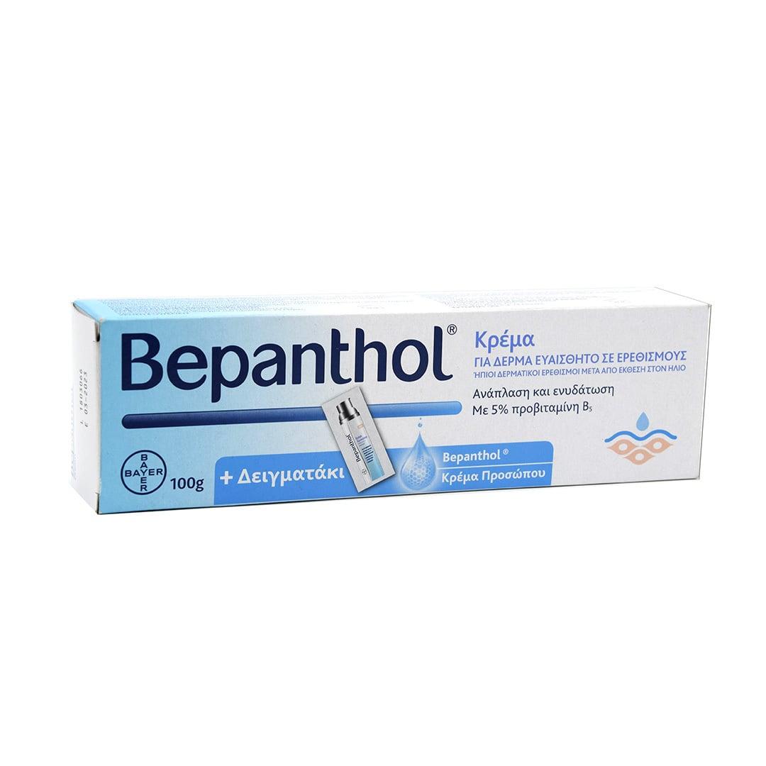 Bepanthol Κρέμα για Δέρμα Ευαίσθητο σε Ερεθισμούς, 100g & Δειγματάκι 1.5ml