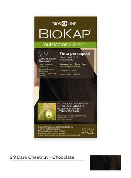 Biokap Nutricolor Delicato No 2.9 Dark Chestnut Chocolate Βαφή Μαλλιών, 140ml