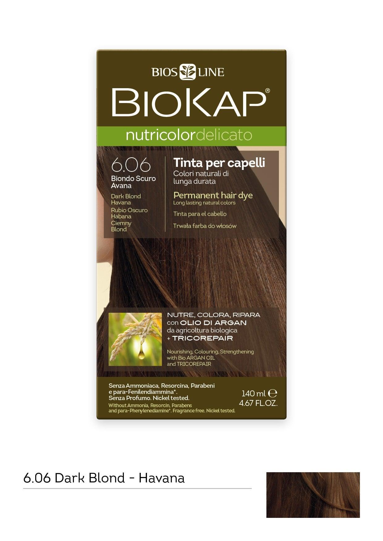 Biokap Nutricolor Delicato No 6.06 Dark Blond Havana Βαφή Μαλλιών, 140ml