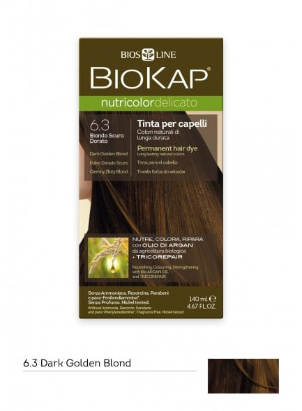 Biokap Nutricolor Delicato No 6.3 Dark Golden Blond Βαφή Μαλλιών, 140ml