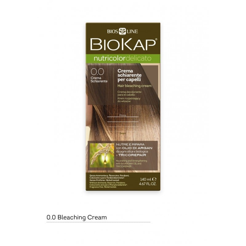 Biokap Nutricolor Delicato No 0.00 Hair Bleaching Cream Ξανθιστική Κρέμα Μαλλιών, 140ml