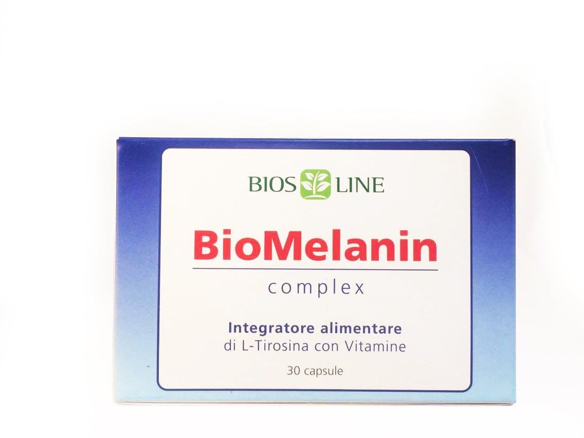 Biosline Biomelanin Complex 500mg Συμπλήρωμα Διατροφής για την Αντιμετώπιση των Λευκών Κηλίδων του Δέρματος, 30caps