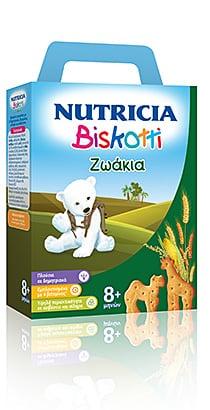 Nutricia Biskotti 8m+ Ζωάκια Βρεφικά Μπισκότα, 180gr