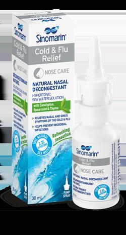 Sinomarin Cold & Flu Relief ΠΡΟΣΦΟΡΑ ΜΟΝΟ 3.45 € 100% Φυσικό κλινικά δοκιμασμένο Ρινικό Αποσυμφορητικό, 30ml