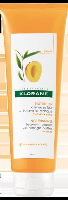 Klorane Leave-In Cream Mango Butter Κρέμα Ημέρας Μαλλιών με βούτυρο Μάνγκο, 125ml