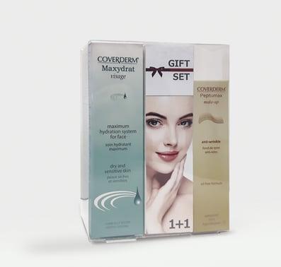 Coverderm GIFT SET με Maxydrat? Visage Κρέμα για το Πρόσωπο, για ξηρές/ευαίσθητες επιδερμίδες, 30ml & ΔΩΡΟ Peptumax Make Up Anti-Wrinkle SPF15 Make Up No.3, 30ml