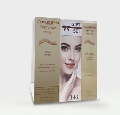 Coverderm GIFT SET με Peptumax Visage Face Cream Αντιρυτιδική Κρέμα Προσώπου, 30ml & ΔΩΡΟ Peptumax Make Up Anti-Wrinkle SPF15 Make Up No.3, 30ml