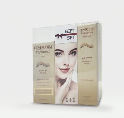 Coverderm GIFT SET με Peptumax Yeux Αντιρυτιδική Κρέμα-ζελ Ματιών, 15ml & ΔΩΡΟ Peptumax Make Up Anti-Wrinkle SPF15 Make Up No.3, 30ml