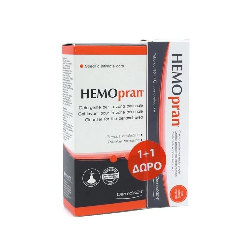 Dermoxen HEMOpran (1+1 ΔΩΡΟ) Protective Endorectal Cream Προστατευτική Κρέμα για την περιοχή του πρωκτού, 35ml & ΜΑΖΙ Perianal Cleanser Ειδικό Καθαριστικό, 125ml