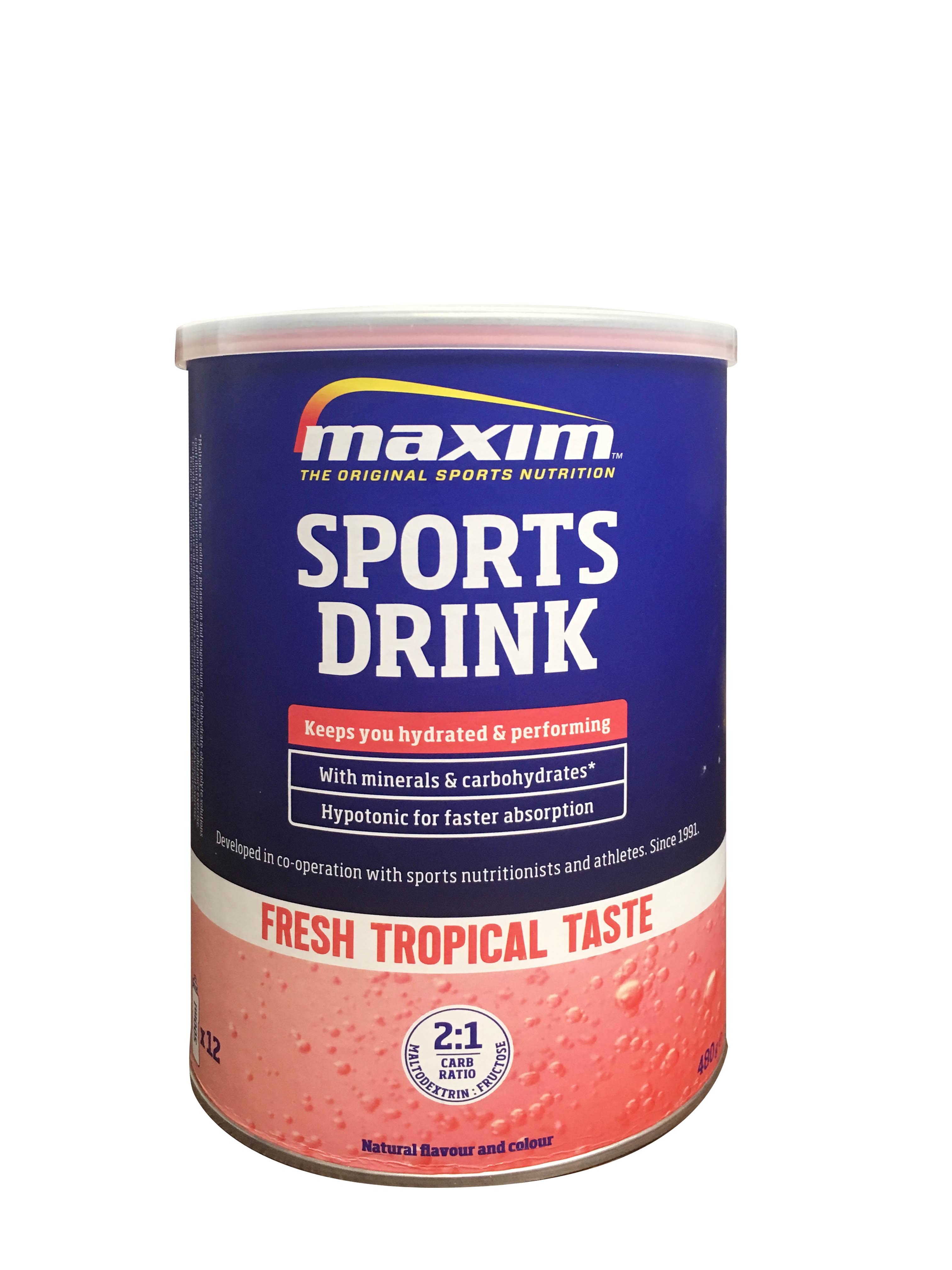 Maxim Hypotonic Sport Drink γευση Tropical Flavour, 480gr