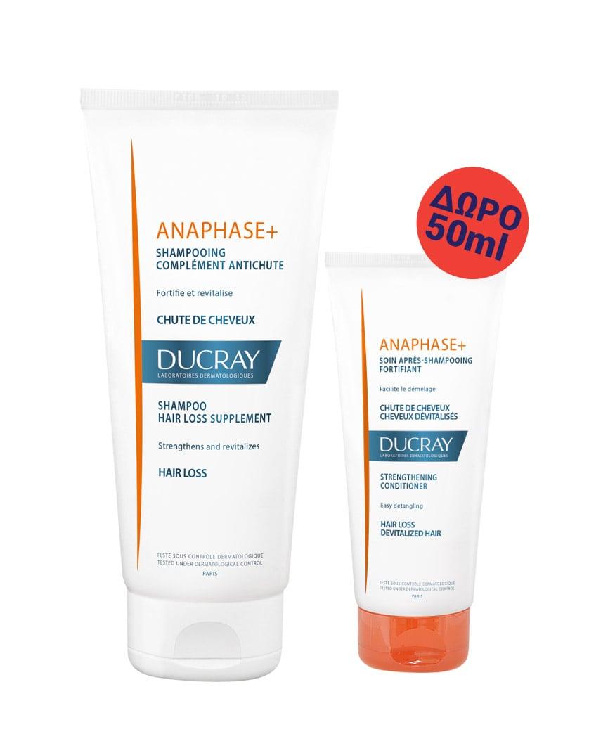 Ducray Anaphase+ Shampoo (PROMO -15%) Δυναμωτικό Συμπληρωματικό Σαμπουάν κατά της Τριχόπτωσης, 200ml & ΔΩΡΟ η Μαλακτική Κρέμα σου, 50ml