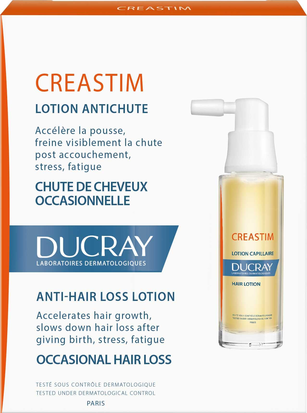 Ducray Creastim Lotion (PROMO -15%) Λοσιόν Αγωγής κατά της Αντιδραστική Τριχόπτωσης, 2 x 30ml