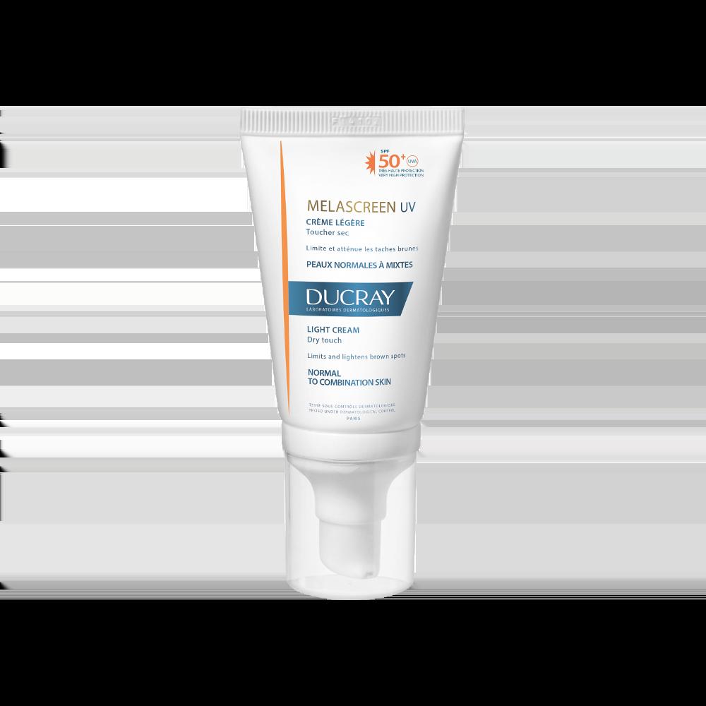 Ducray Melascreen UV Light Cream SPF50+ Λεπτόρρευστη Αντηλιακή Κρέμα Προσώπου για Κανονικό Δέρμα με Δυσχρωμίες, 40ml