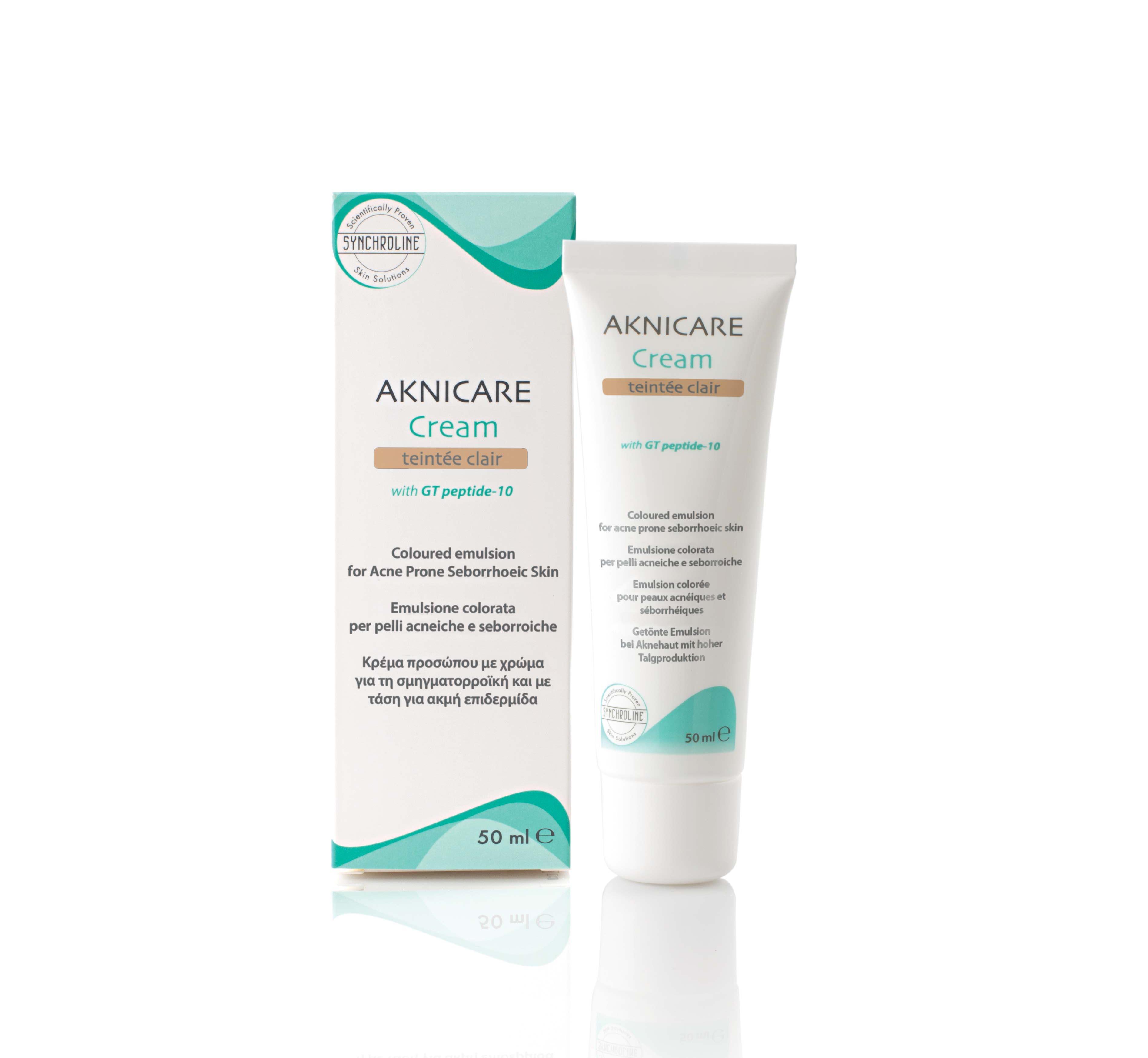 Synchroline Aknicare Cream Teintee Dore, 50 ml