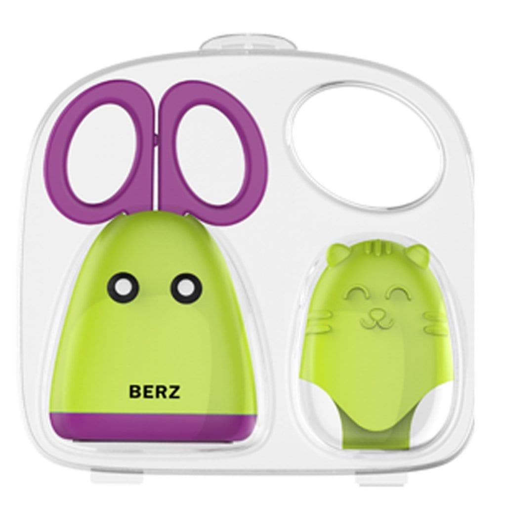 Berz Ανοξείδωτο Ψαλιδάκι προετοιμασίας τροφών & προστατευτικό γαντάκι ζωάκι σιλικόνης, 1 τεμάχιο