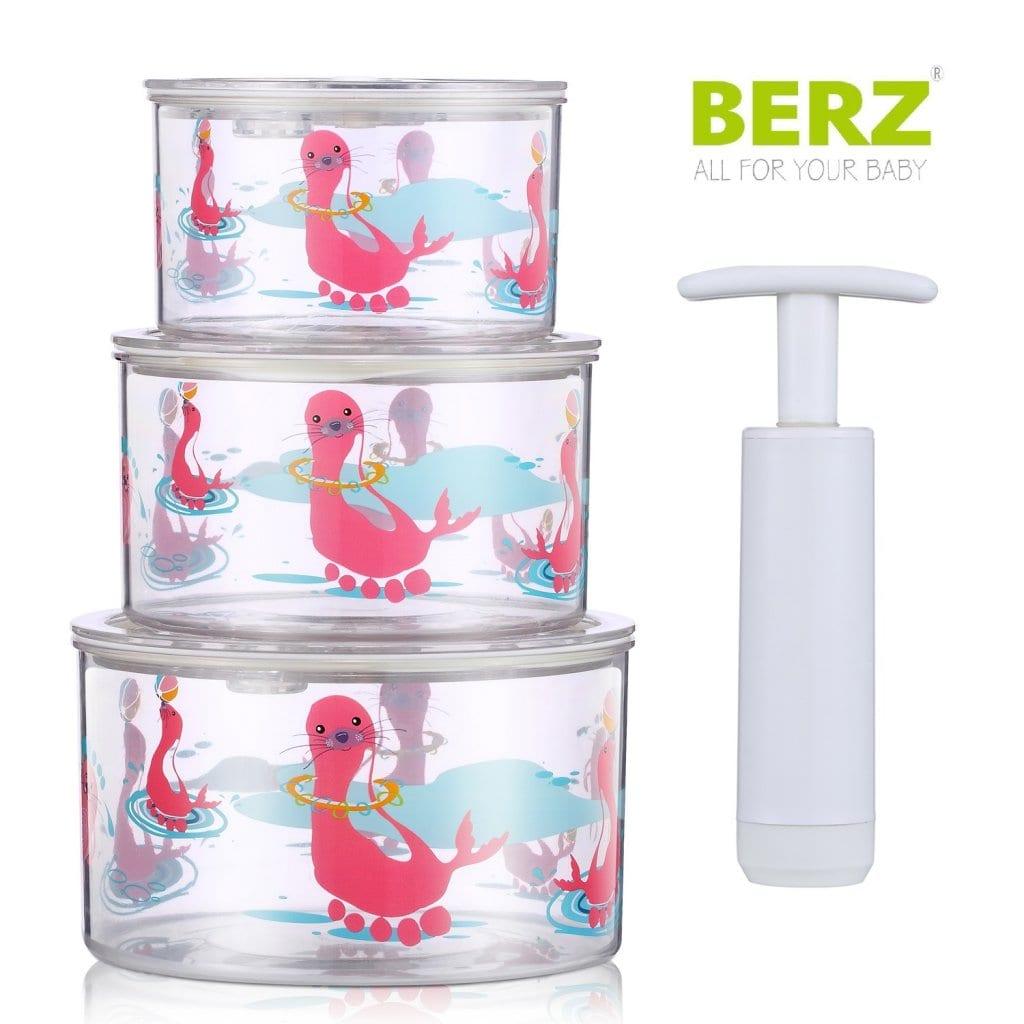 Berz Baby Vacuum Storage Σετ Μπολ αποθήκευσης σε κενό αέρος, 3 τεμάχια