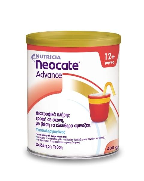 Nutricia Neocate Advance Θρεπτικό Σκεύασμα σε Μορφή Σκόνης 12m+ με βάση μη αλλλεργιογόνα αμινοξέα, 400gr