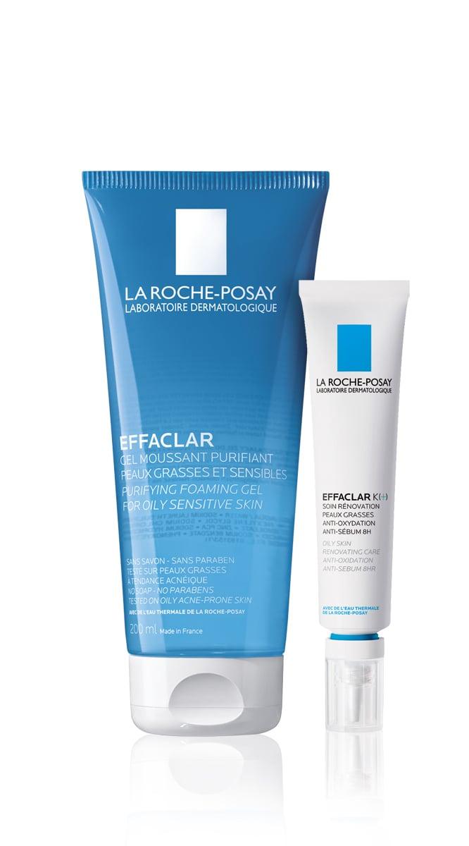 La Roche Posay Effaclar OFFER PACK with Effaclar Foaming Gel, 200ml & Effaclar K (+), 30ml