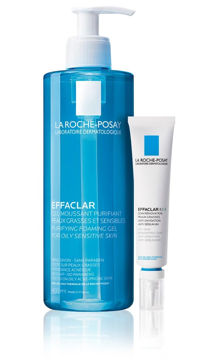 La Roche Posay Effaclar OFFER PACK with Effaclar Foaming Gel, 400ml & Effaclar K (+), 30ml