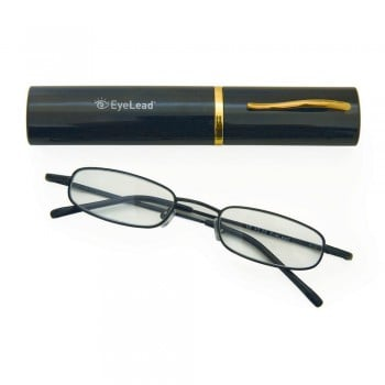 Vitorgan EyeLead Pocket - Reading Glasses pocket, with case . With flexible arm & durable frame. Color Black, 1 piece