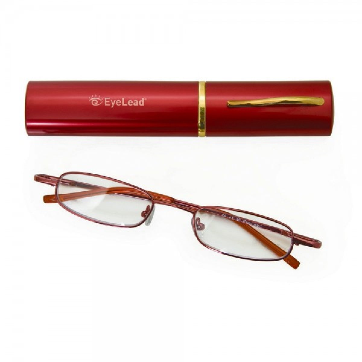 Vitorgan EyeLead Pocket - Reading Glasses pocket, with case . With flexible arm & durable frame. Color Red, 1 piece