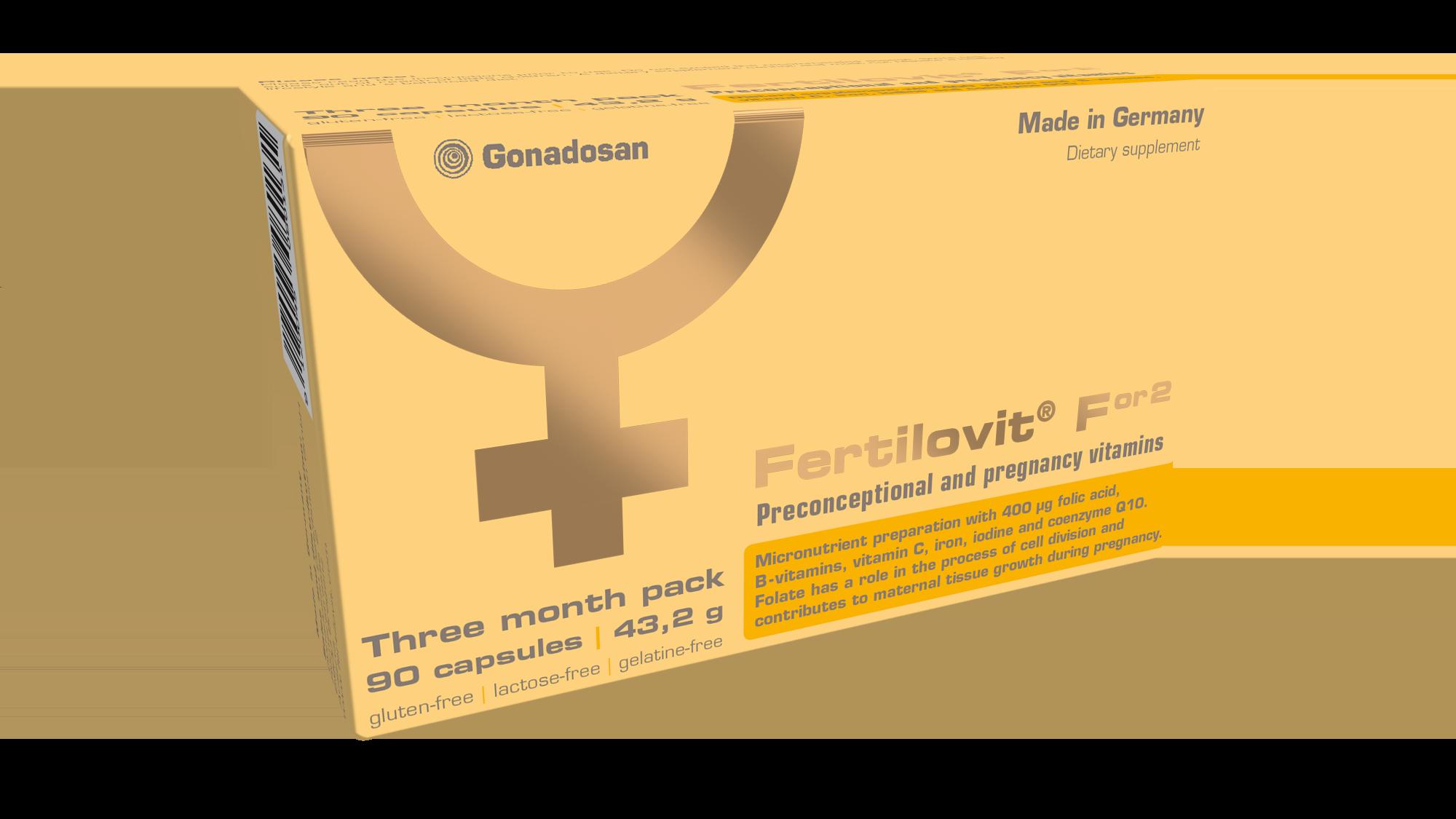 Fertilovit F or 2 Προηγμένο Συμπλήρωμα Διατροφής για την ασφαλή υποστήριξη των απαιτήσεων των γυναικών πριν τη σύλληψη, κατά τη διάρκεια της εγκυμοσύνης & του θηλασμού, 30 caps
