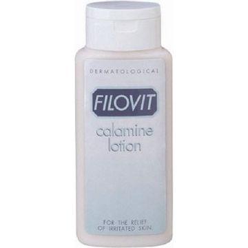Filovit Calamine Lotion Κρέμα για Ευαίσθητα Δέρματα 200ml, για Παιδικές εξανθηματικές ασθένειες με κνησμό, Κοιλιά & στήθος εγγύου, Ηλιακό ερύθημα & έκζεμα και αλλα.
