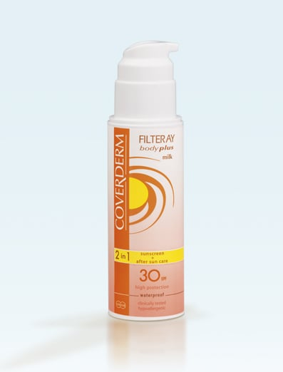 Coverderm Filteray Body Plus Milk SPF30 & After Sun(2σε1) Αντηλιακό Γαλάκτωμα Σώματος, 150ml