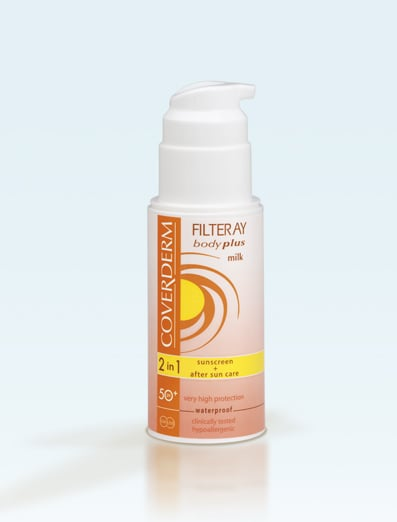 Coverderm Filteray Body Plus Milk SPF50+ & After Sun(2σε1) Αντηλιακό Γαλάκτωμα Σώματος, 100ml