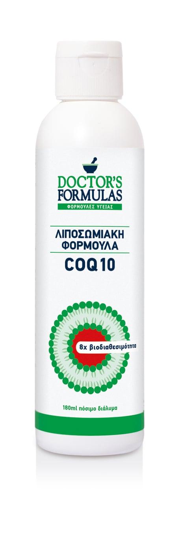 Doctor's Formulas Co Q10 100mg Λιποσωμιακή Φόρμουλα με Συνένζυμο Q10, 180ml