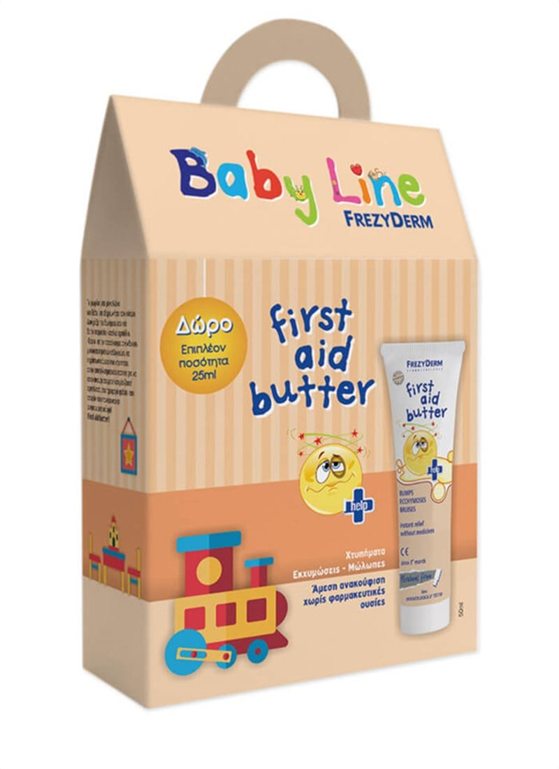Frezyderm First Aid Butter Gel PROMO Τζελ που αντιμετωπίζει χτυπήματα, εκχυμώσεις & μώλωπες, για πρόσωπο & σώμα, 50ml +25ml ΕΠΙΠΛΕΟΝ ΠΟΣΟΤΗΤΑ
