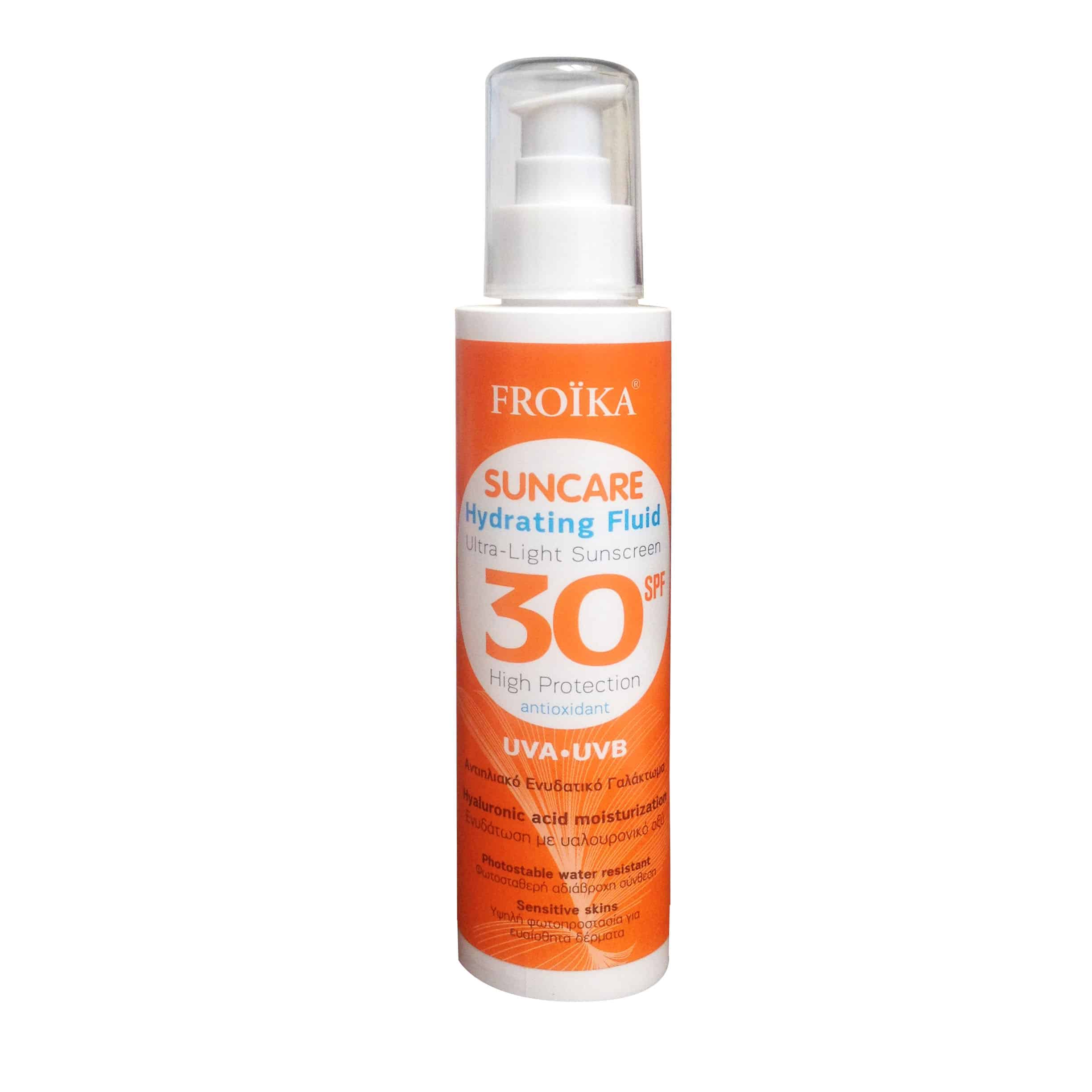 Froika Suncare Hydrating Fluid SPF30 Αντιηλιακό Ενυδατικό Γαλάκτωμα, 150ml