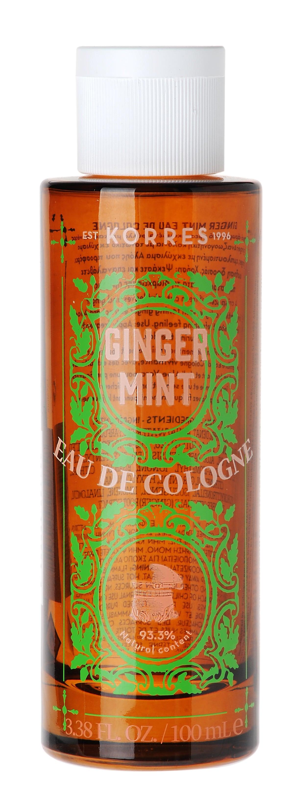 Korres Eau De Cologne Ginger Mint Ζωηρή Κολόνια με άρωμα από φρεσκοκομμένα φύλλα μέντας & νότες ginger, 100ml
