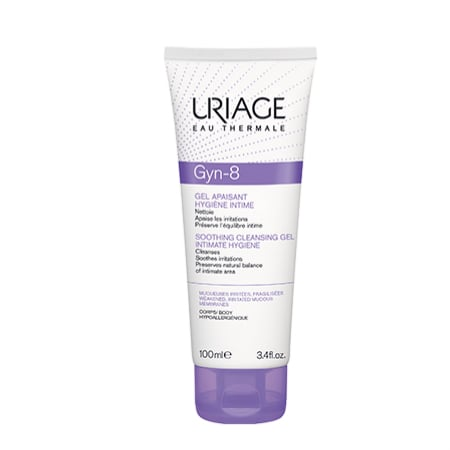 Uriage Eau Thermale Gyn-8 Intimate Hygiene Soothing Cleansing Gel για την Ευαίσθητη Περιοχή, 100ml