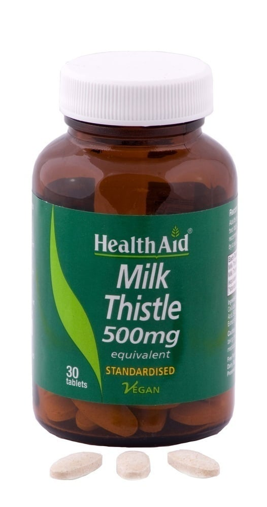 Health Aid MILK THISTLE 500mg, 30 ταμπλέτες