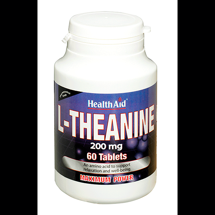 Health Aid L-Theanine 200mg, 60tabs