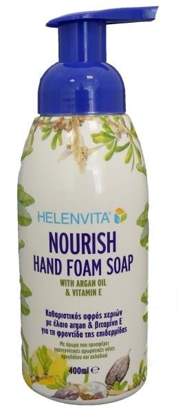 Helenvita Nourish Hand Foam Soap Καθαριστικός Αφρός Χεριών, 400ml