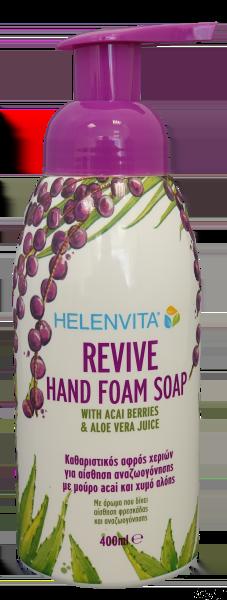 Helenvita Revive Hand Foam Soap Καθαριστικός Αφρός Χεριών, 400ml