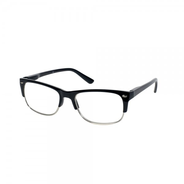 Vitorgan EyeLead Ε142 Unisex Reading Glasses, Black color. Comes with soft case with lanyard and cleaning cloth, 1 piece