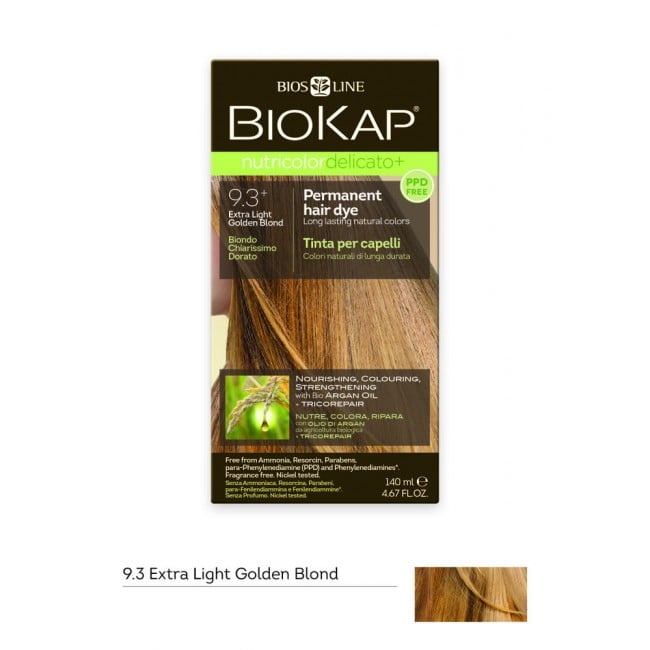 Biokap Nutricolor Delicato No 9.3 Extra Light Golden Blond Βαφή Μαλλιών, 140ml