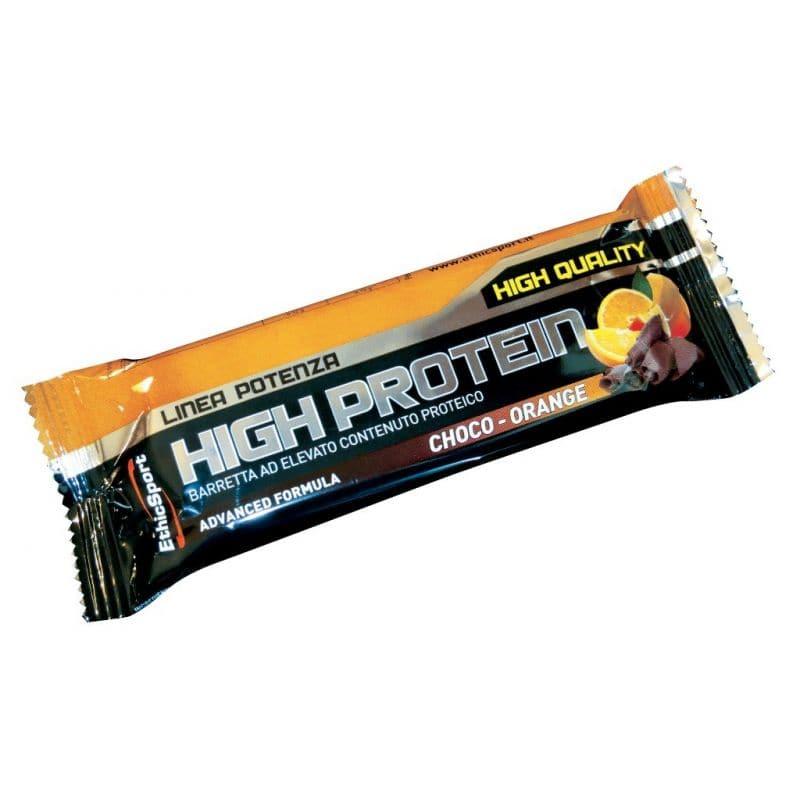 Ethicsport High Protein Bar Choco Orange Πρωτεϊνική Μπάρα, με γεύση σοκολάτα-πορτοκάλι, 55gr